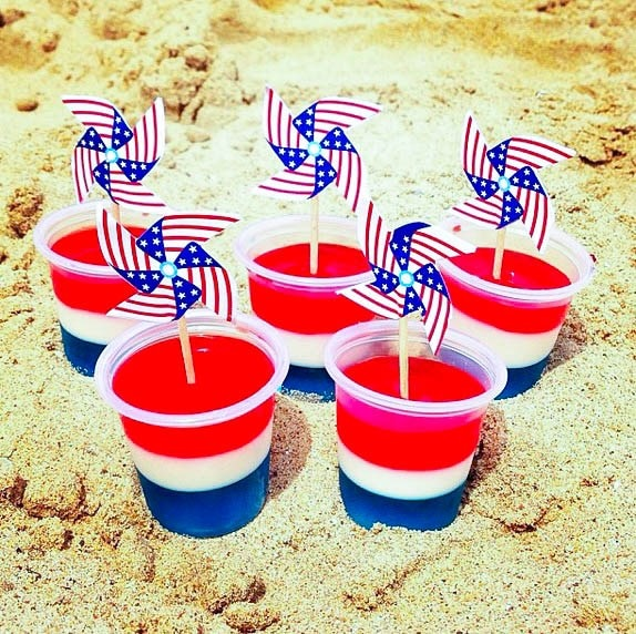 Red White and Blue Jello Shots