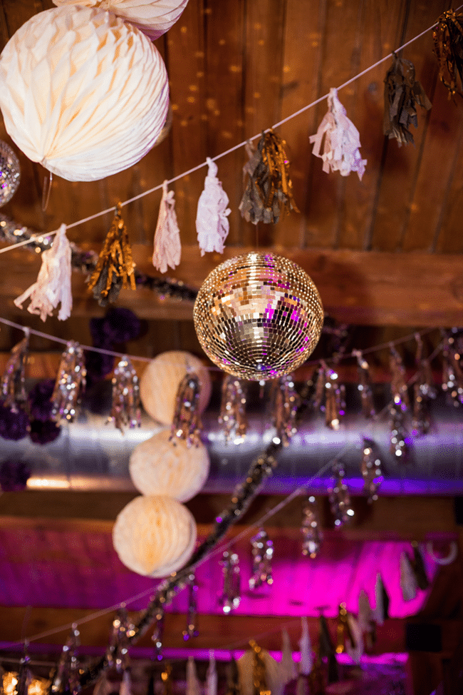 Purple Glam 40th Birthday Party Decorations