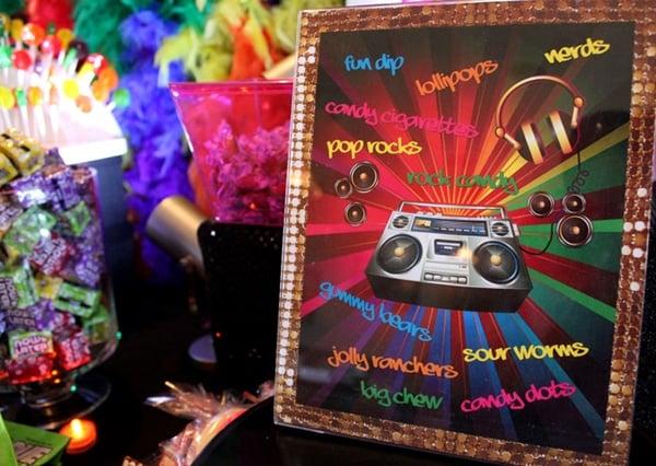 80s Theme Candy Bar Sign