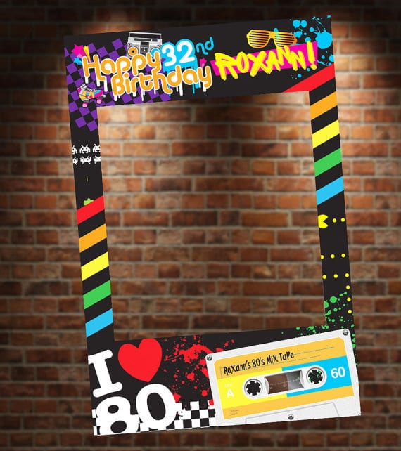80s Theme Party Photo Booth Frame