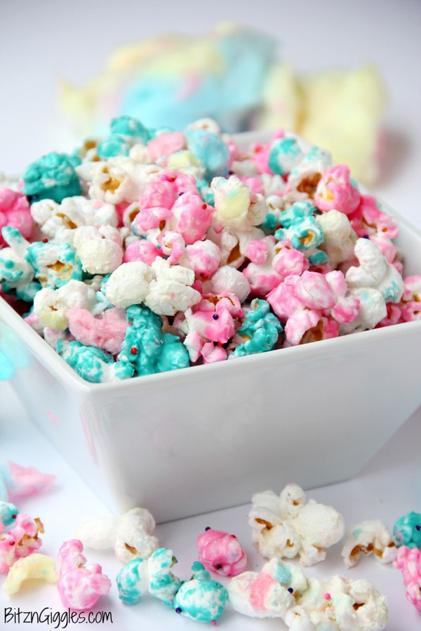 Cotton Candy Popcorn - Shimmer and Shine Party Food