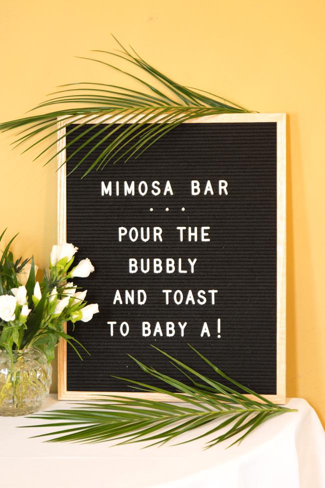 Fun Jungle Theme Baby Shower Mimosa Bar