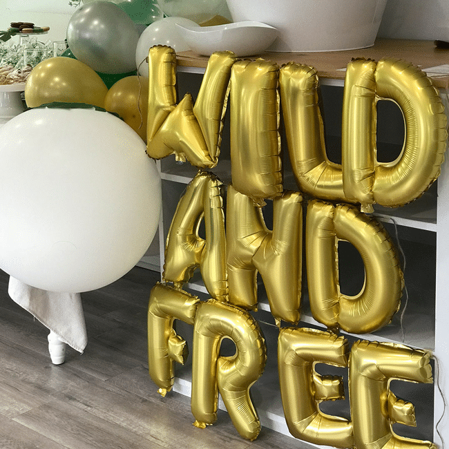 Wild and Free Balloons for Jungle Theme Birthday Party