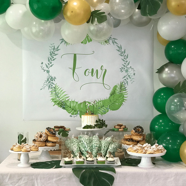 Modern Jungle Theme Party Jungle Birthday Party Pretty My Party