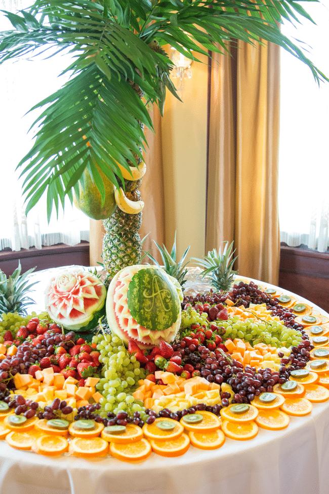 Fun Jungle Theme Baby Shower amazing fruit display