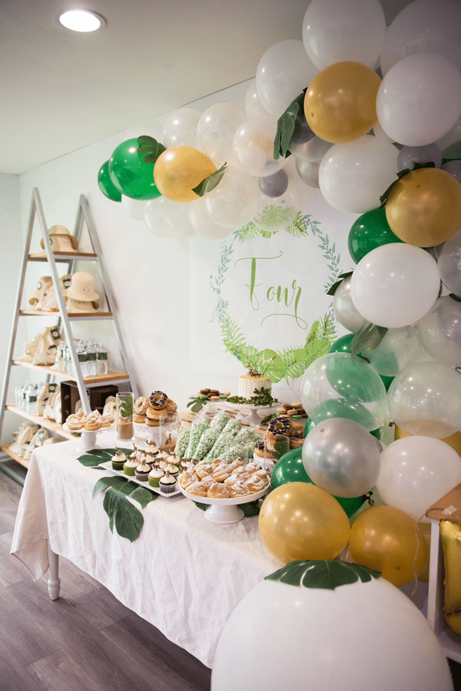 Jungle Theme Party Dessert Table
