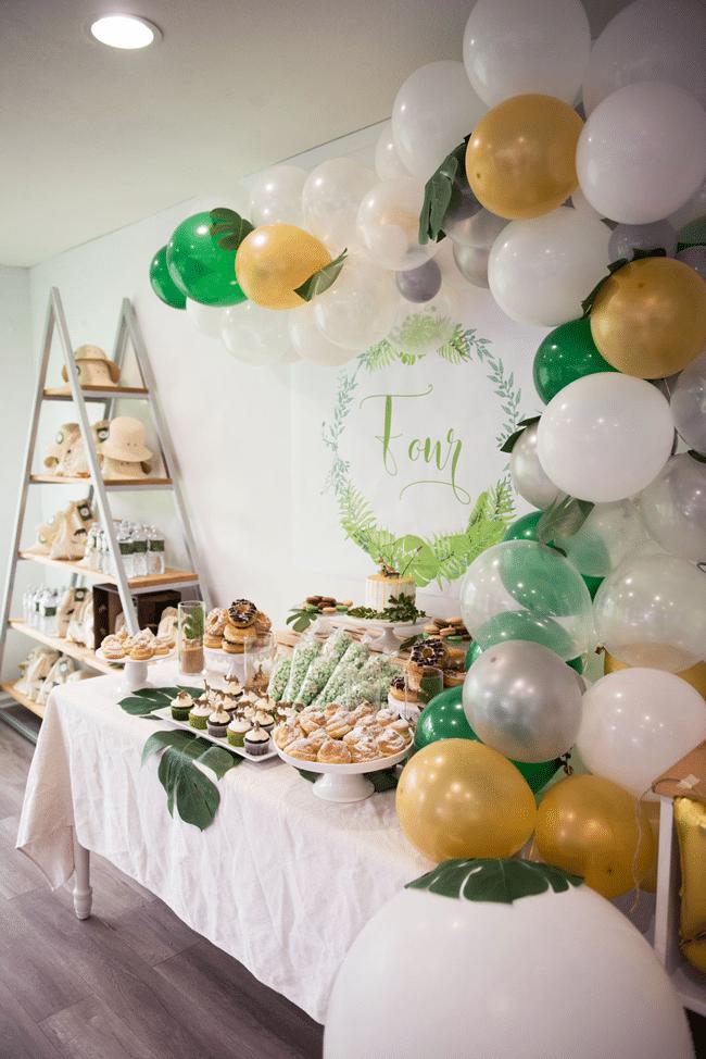 Jungle Theme Party Dessert Table