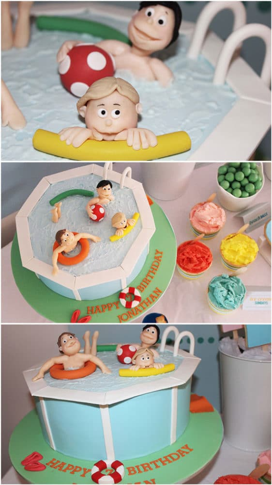 Awesome Pool Party Birthday Cake