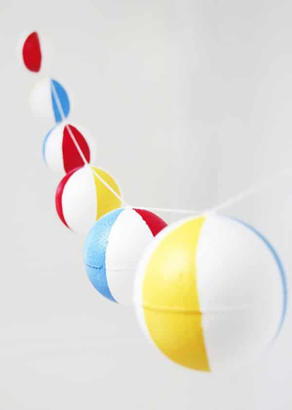 DIY Beach Ball Garland - Pool Party Ideas