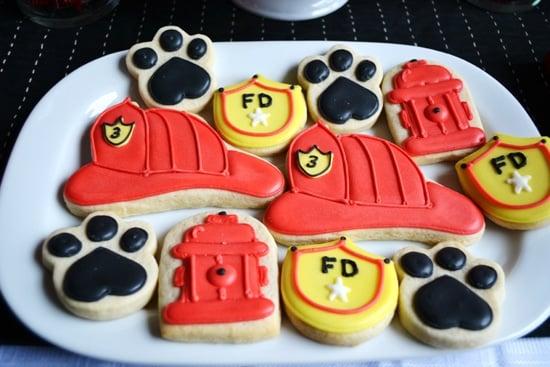 Fireman Party Cookies