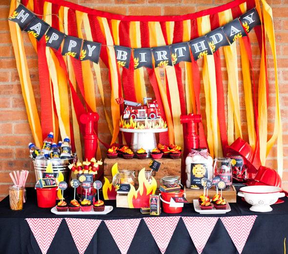 Fireman Birthday Dessert Table