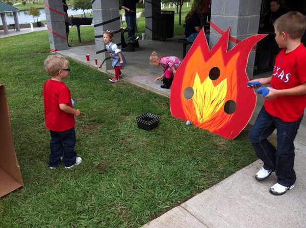 Fireman Flame Toss Party Game