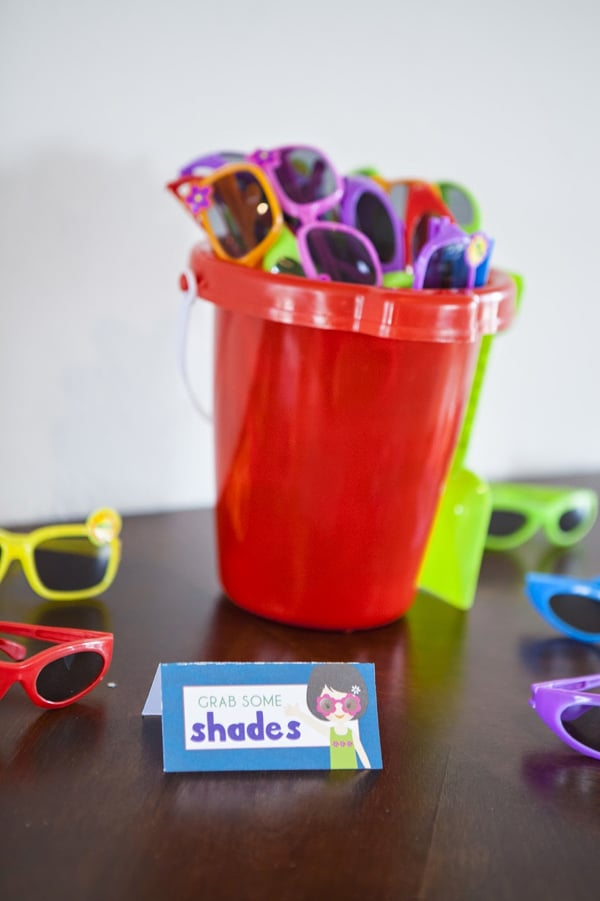 Sunglasses Party Favors for Pool Party