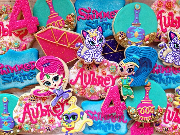Shimmer and Shine Cookies - Shimmer and Shine Party Food Ideas