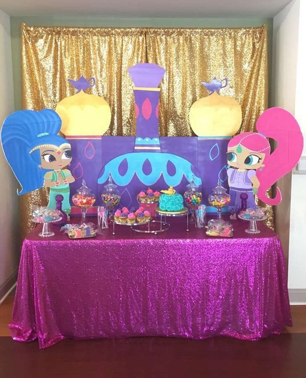 Shimmer And Shine Dessert Table For Birthday
