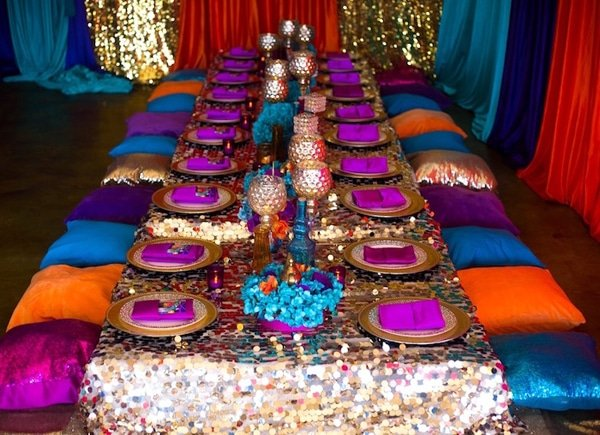 Shimmer and Shine Party Table Set Up - Shimmer and Shine Party Ideas