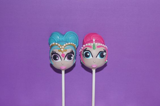 Shimmer and Shine Cake Pops - Shimmer and Shine Party Ideas