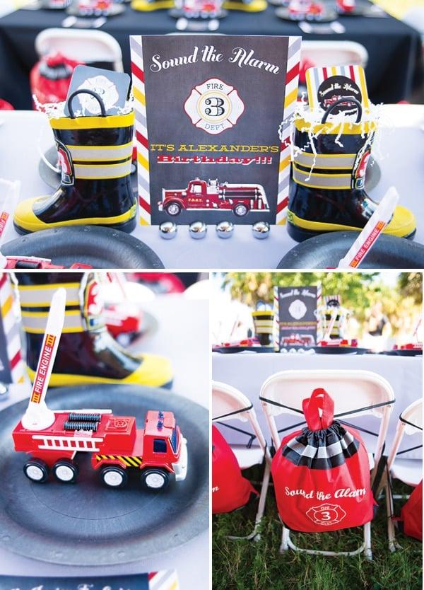 Sound the Alarm Fireman Birthday Party