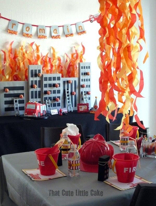 Fireman Birthday Party Decorations