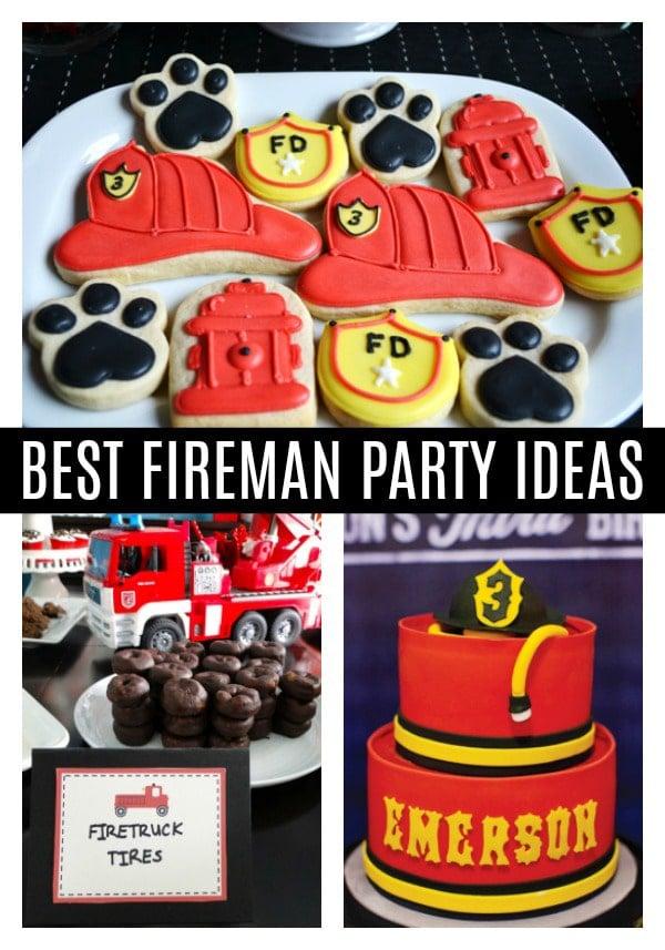 Fireman Birthday Party Ideas - Pretty My Party