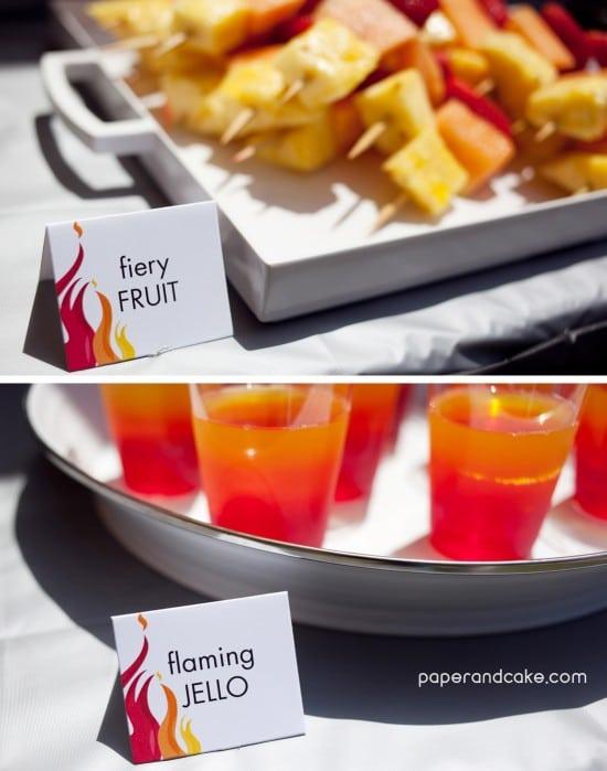 Fireman Party Food