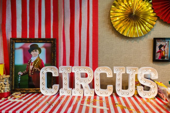 Circus Theme Party Circus Letters Decoration