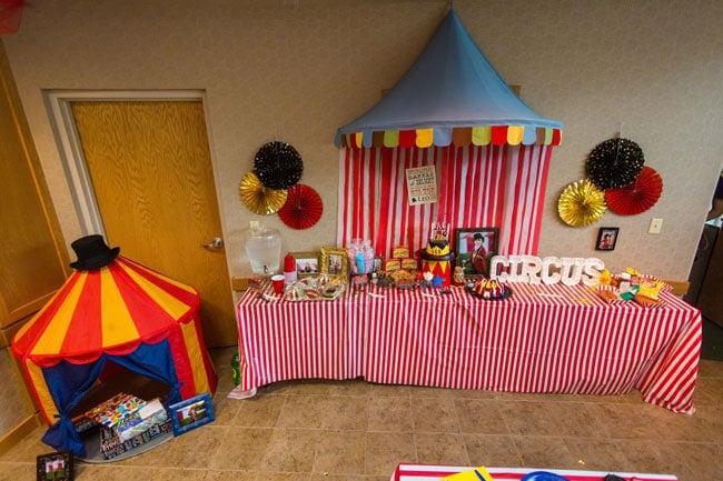 Circus Theme Party Dessert Table