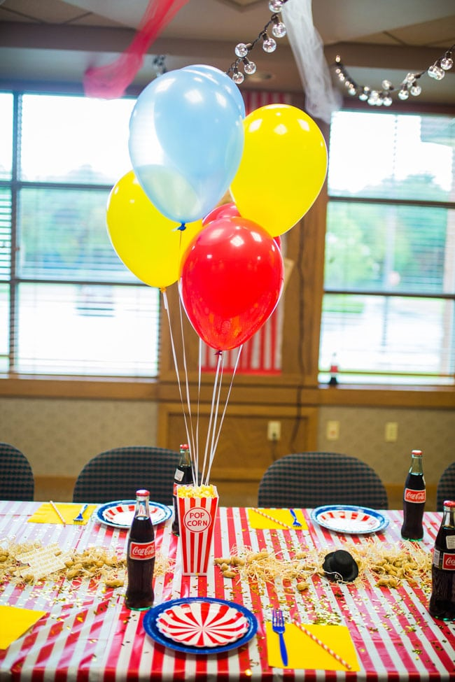 Circus Theme Party Centerpieces