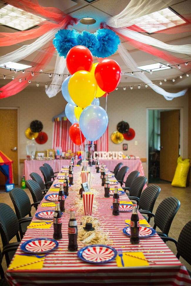 Circus Theme Party Tables