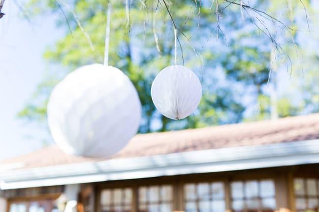 Golf Themed Party Decorations - White Tissue Paper Balls aka Golf Balls