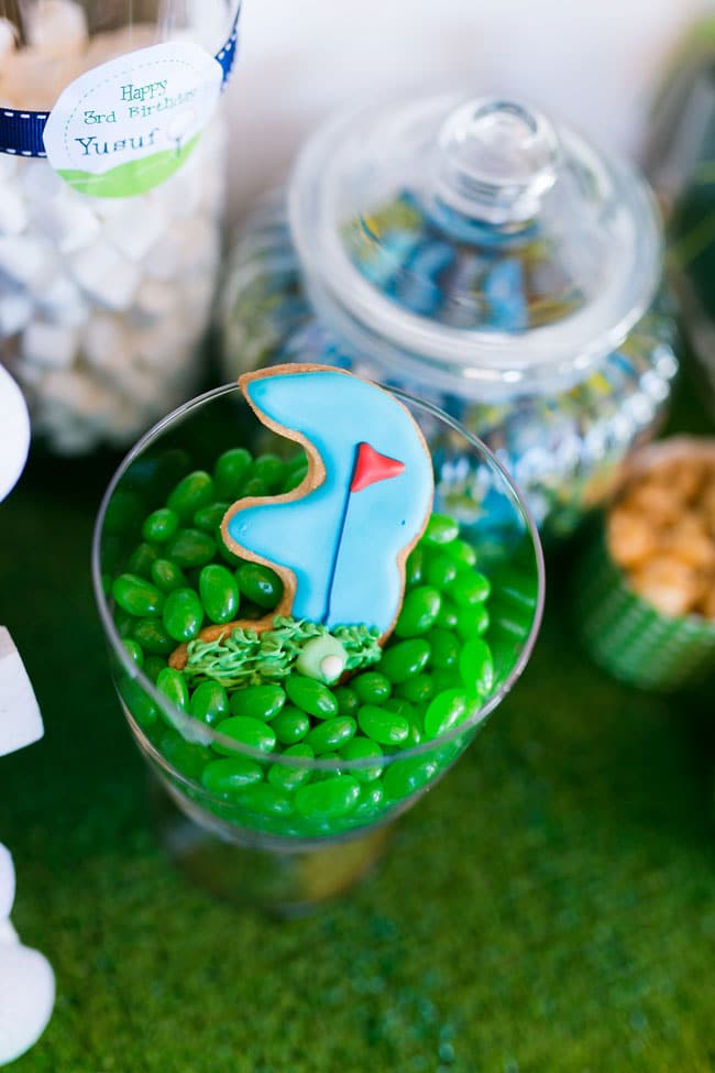 Golf Themed Party Cookie and Candy