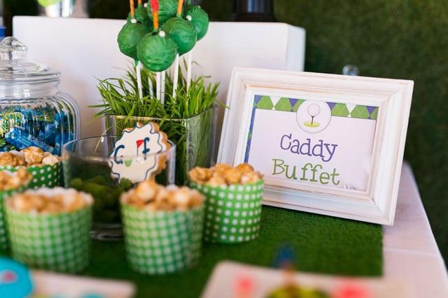 "Golf Themed Birthday Party ""Caddy Buffet"""