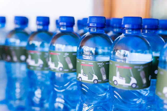 Golf Themed Water Bottle Labels