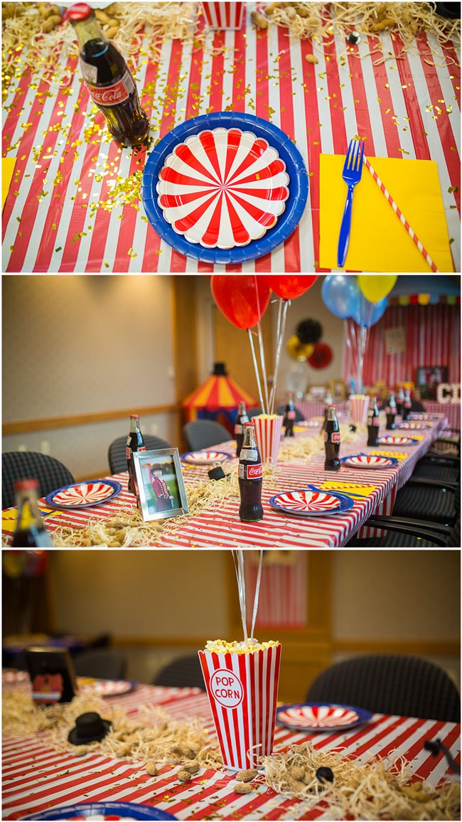 Circus Theme Party Table