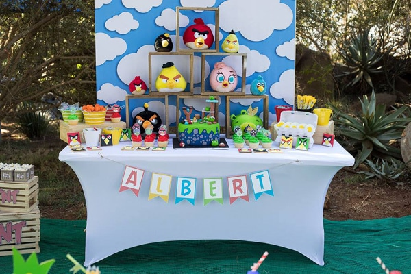Colorful Angry Birds Birthday Party Pretty My Party Party Ideas
