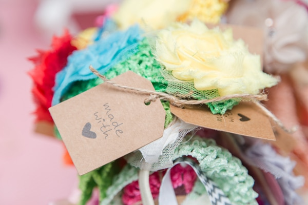 DIY headbands for baby shower
