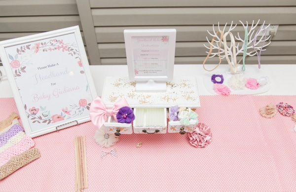 Make baby's headband station for a baby shower