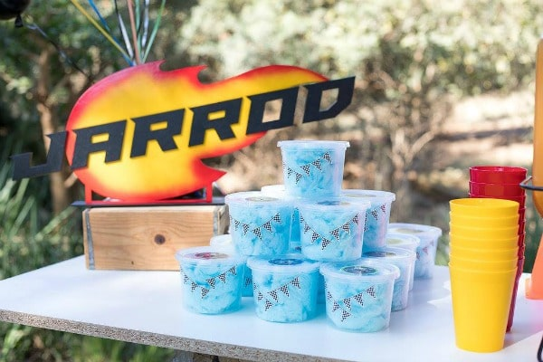 Blaze and the Monster Machines Birthday Party Cotton Candy Favors