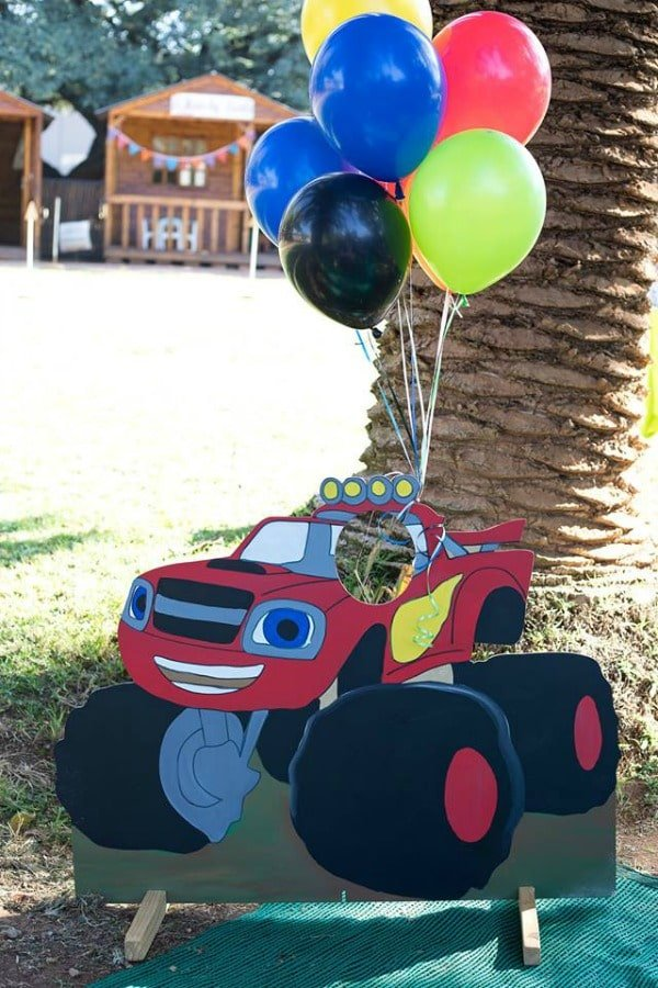 Blaze and the Monster Machines Birthday Party Photo Cut Out