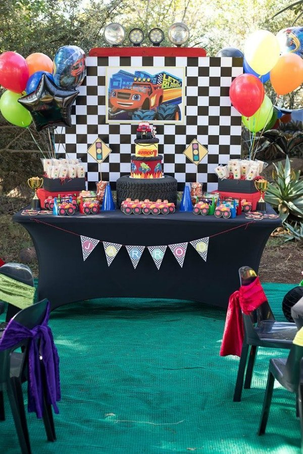 Blaze and the Monster Machines Birthday Party Dessert Table