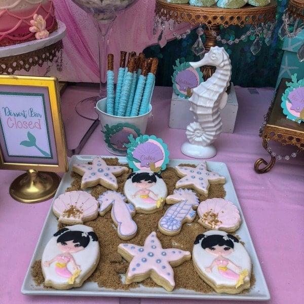 Mermaid Under The Sea Birthday Party Desserts