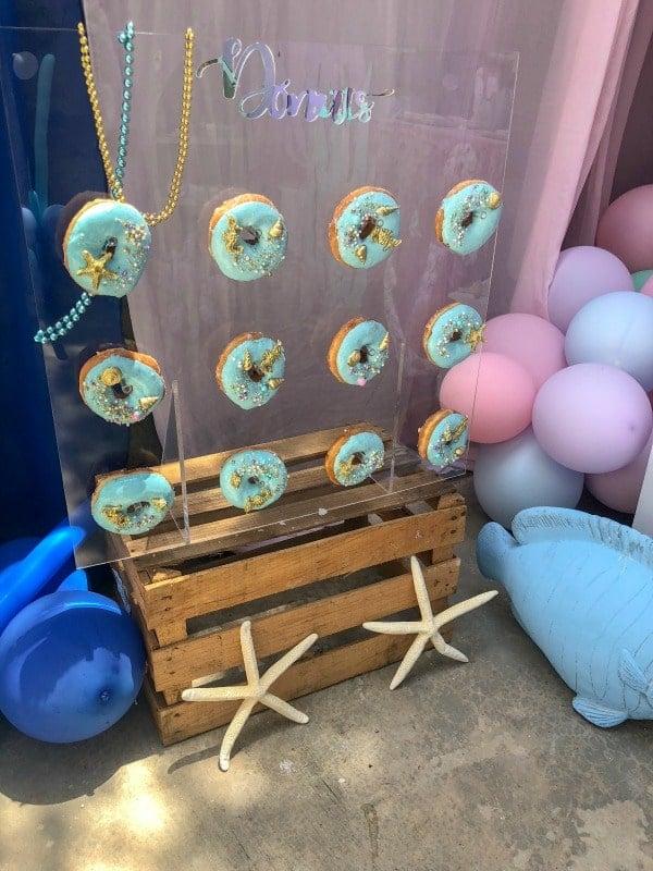 Mermaid Birthday Party Donut Wall