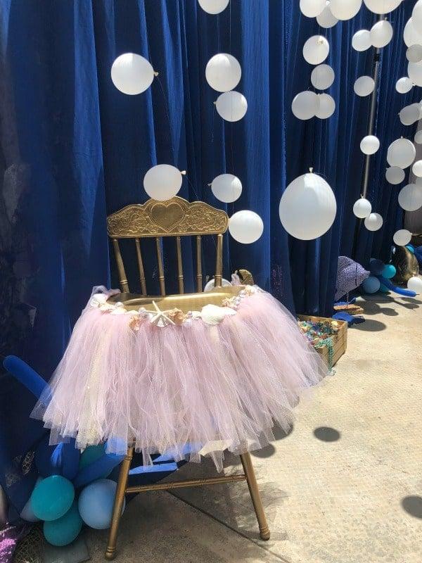 Mermaid Birthday Party High Chair Decoration