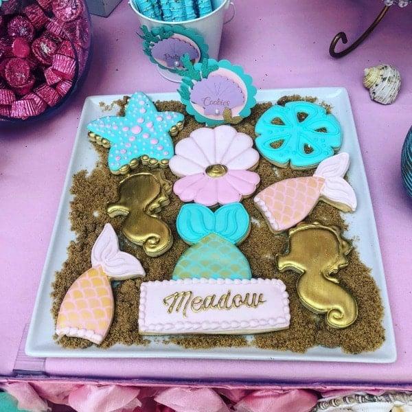 Mermaid Birthday Cookies