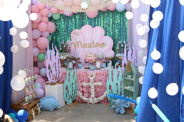 1st Birthday Party Ideas.Mermaid Under The Sea 1st Birthday Party Pretty My Party