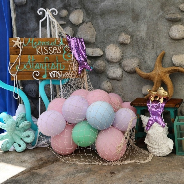 Mermaid Party Sign and Decorations
