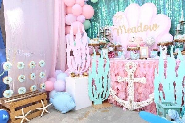 Mermaid Under The Sea 1st Birthday Party Ideas