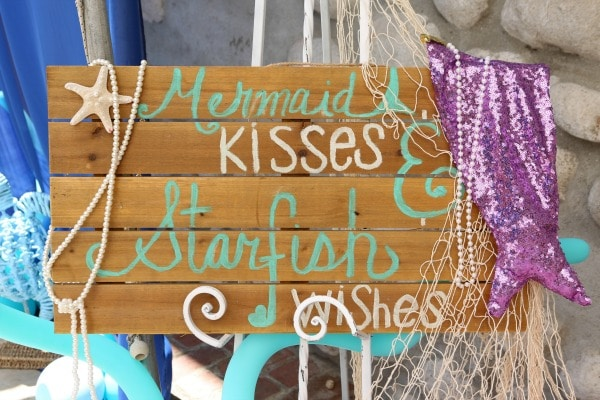 Mermaid Birthday Party Sign