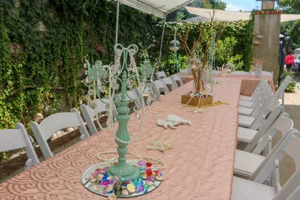 Mermaid Under The Sea Birthday Party Table and Centerpieces