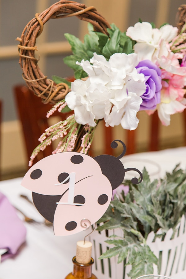 Minnie Mouse Garden Themed Baby Shower Table Numbers